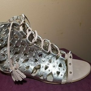 Gold Sam Edelman spiked gladiators size 7